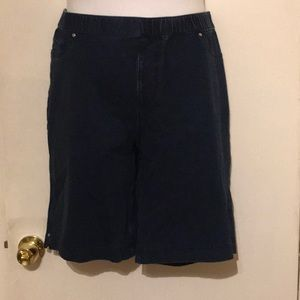 Catherine's Knit Pull-On Shorts, Size 1X (18-20)